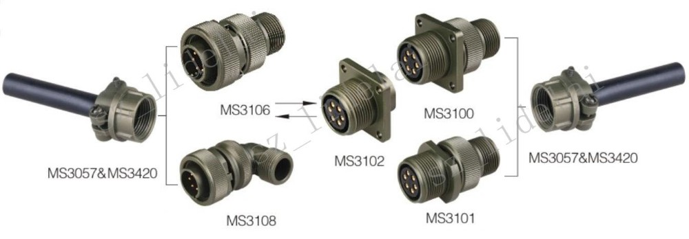 Mil C 5015 Connector Military Plug Electrical 10 Pin
