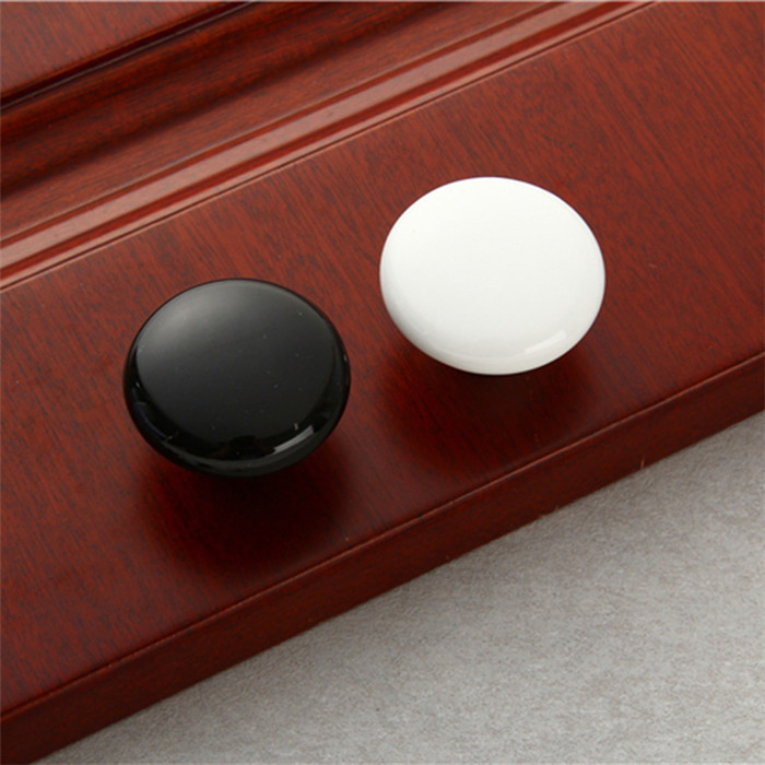 Factory stock decorative black ceramic drawer cabinet knobs