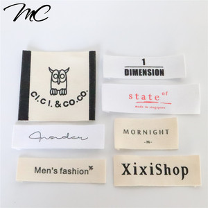 Wholesale Custom Cotton / Polyester Woven clothing Labels