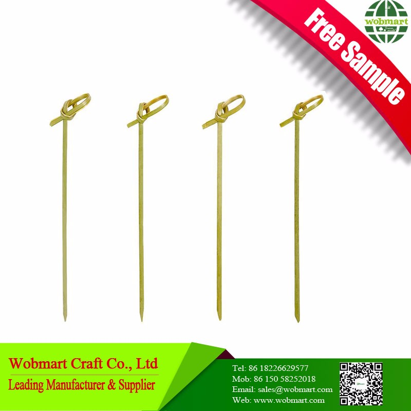 Free Sample Safe Decorative Bamboo Knotted Skewers