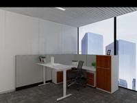 Motorized Height Adjustable L shape Office Desk