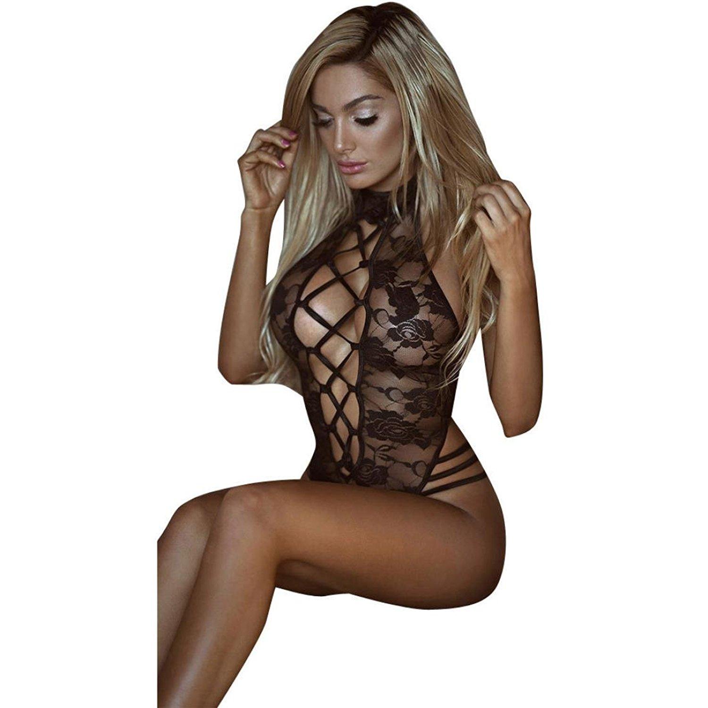 Lingerie.Wqueen Hollow Lace Strap Sexy Piece Underwear Women Lingerie Nightwear Underwear Sleepwear Bodysuit