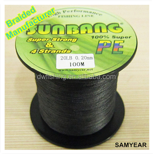 SUNBANG Zhejiang Factory Outdoor Fishing Tackle Bulk Spectra Braided Fishing Line 20lb Black 300m