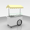 Newly made outdoor food cart, mobile food cart, hand pushing food cart for sale