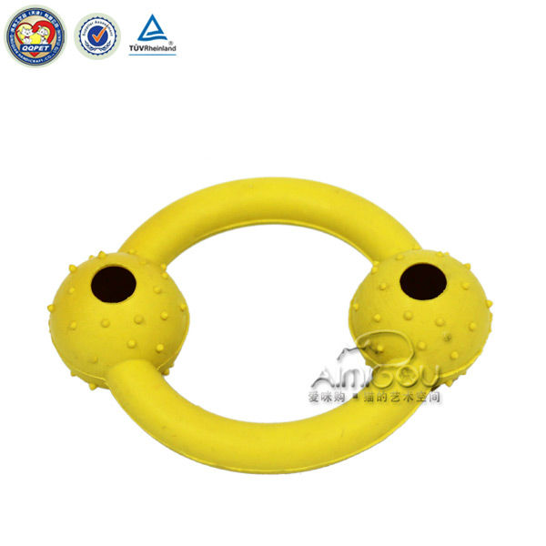 2 eyes bright yellow pet toys/pet supply for dog and cats