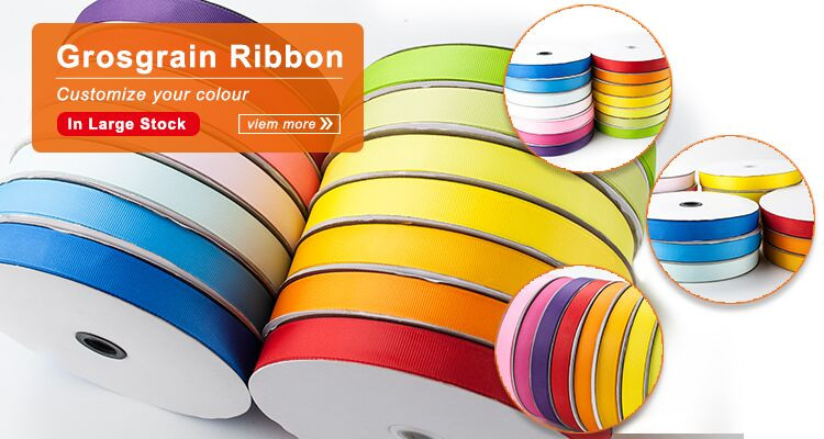 Eco-friendly solid color reflective gross grain ribbon