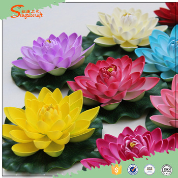 Wholesale artificial lotus flower for pool decorative plastic lotus wholesale artificial lotus flower for pool decorative plastic lotus water lily artificial floating lotus mightylinksfo