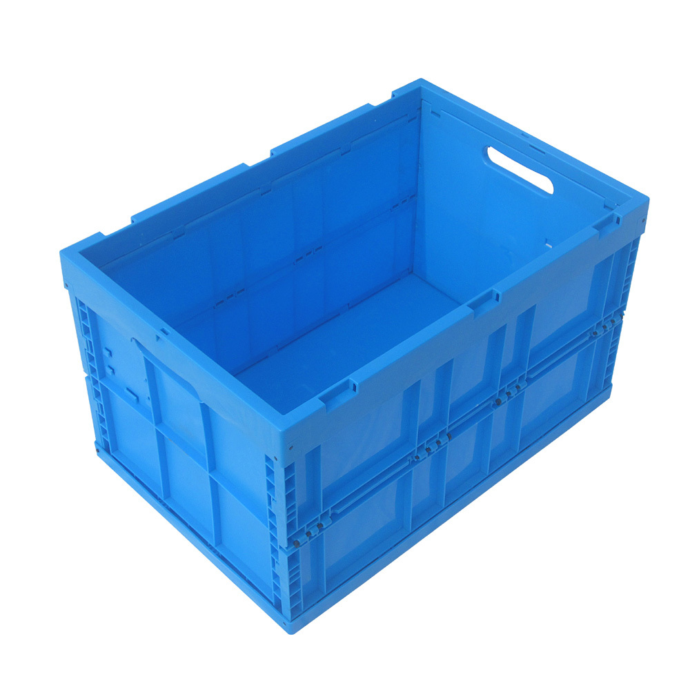 66l Folding Collapsible Vented Plastic Crate With