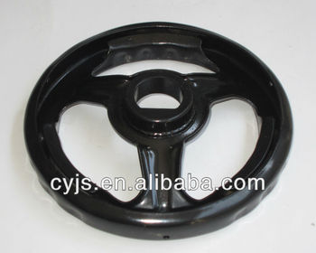 Black Steel Stamping Operated Gate Valve handle wheel/telescopic hand wheels
