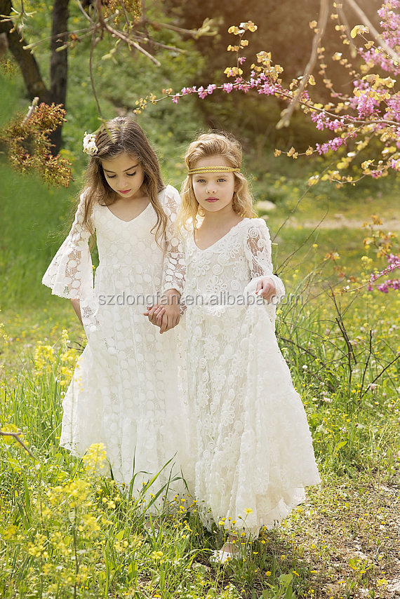 First Communion Dresses Off White Lace Dress Boho Chic Girls Dress Bohemian Wedding Buy Latest Design Formal Evening Gown Long Frock Design