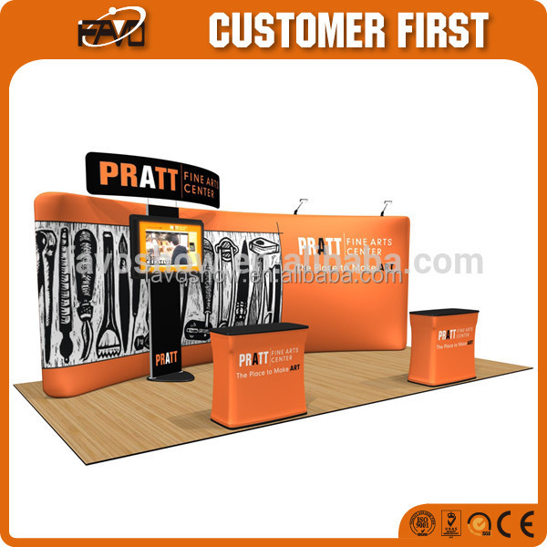 Folding Gate Tension Fabric Display Exhibition For Clothes Sales Tv Stand Rack