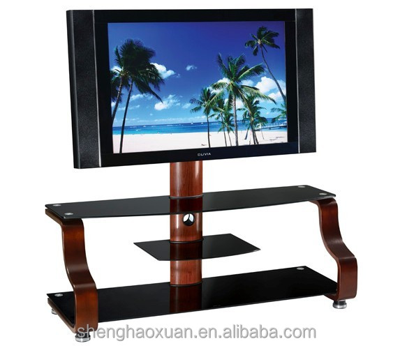 Manufactory home furniture tempered glass tv stand glass table for lcd tv