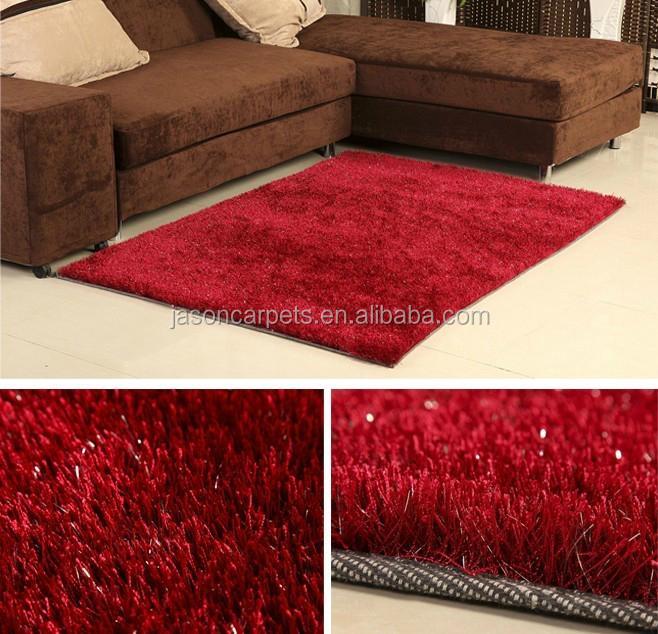 Tianjin tapijt fabriek zwarte kleur 150D zijdeachtige polyester ...