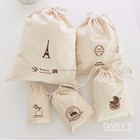 organic Cotton Canvas material drawstring gift pouch Bag wholesale