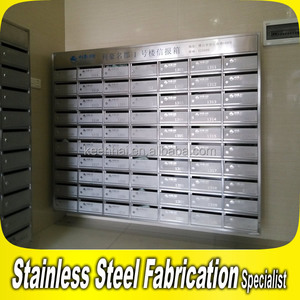Customized Made Wall Mount Apartment Building Mailboxes