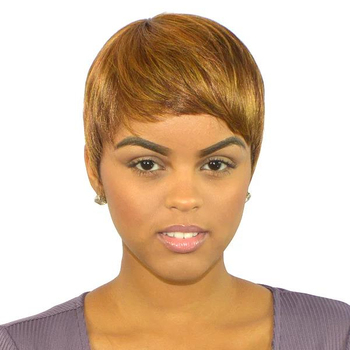 factory price Afro women Short Cheap Fresh Synthetic wig mix color Bob Cut Style Wig Hair for woman best seller in the US