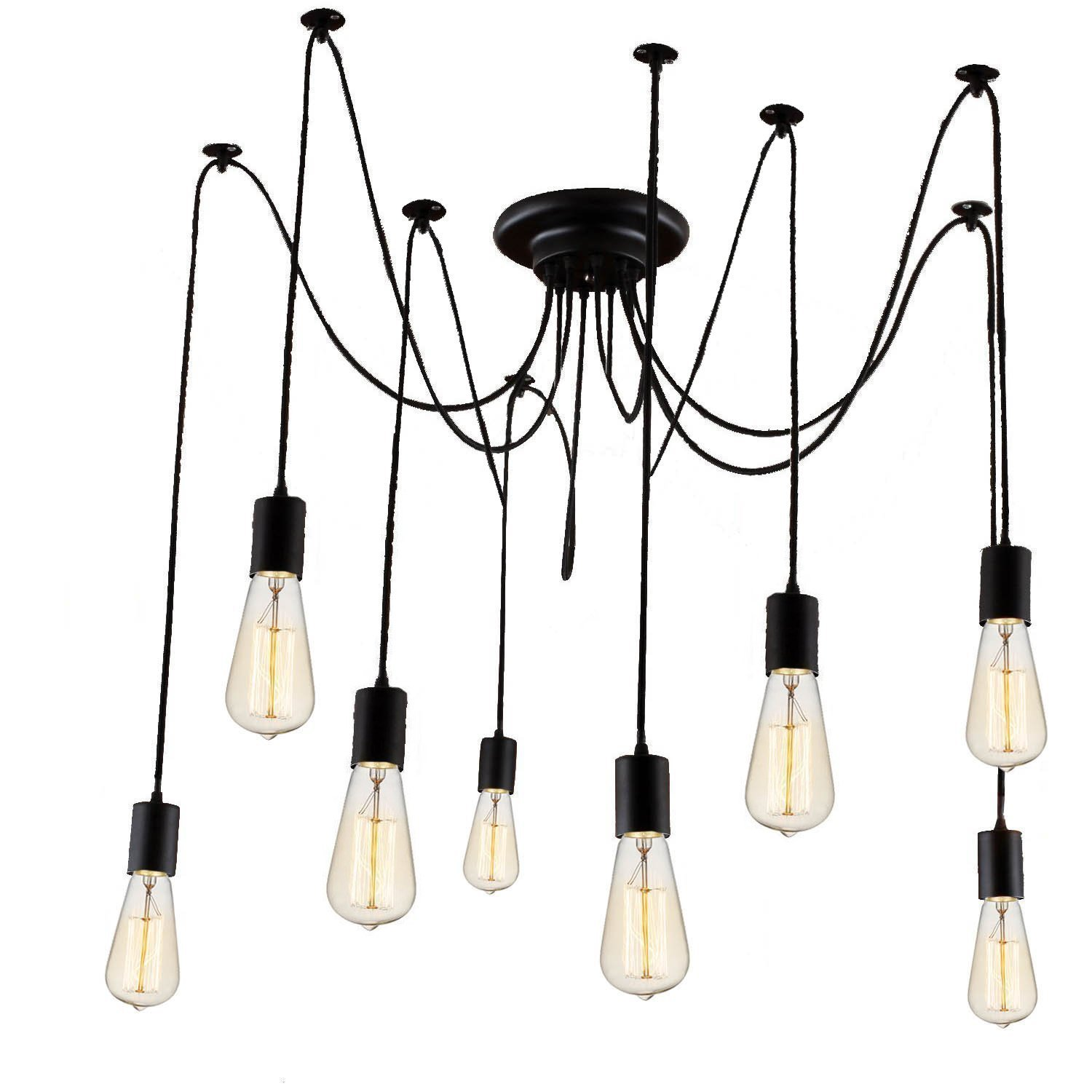 Cheap bulb covers for chandeliers find bulb covers for chandeliers get quotations 8 lights loft style vintage retro ceiling lamps fixtures chandeliers lighting without bulb 8 heads aloadofball Image collections
