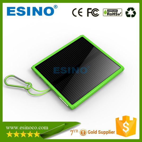 Eco-friendly solar panel power bank,Environment Protect Save Resource Portable Solar Panel Power Bank