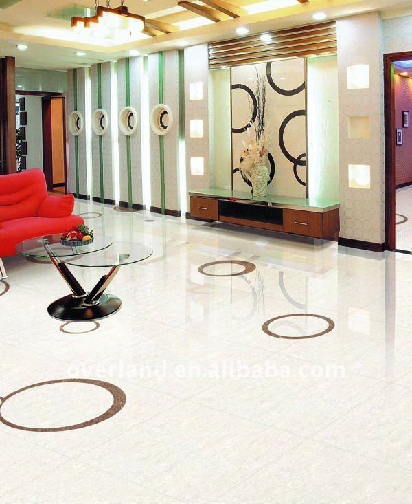 600x600 double coated polished porcelain floor tiles