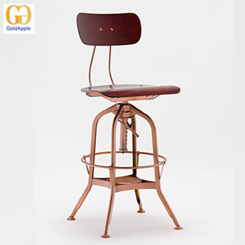 Awe Inspiring Ga402C Vintage Light Copper Adjustable High Back Toledo Caraccident5 Cool Chair Designs And Ideas Caraccident5Info