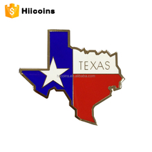 Personalizzato Distintivo In Metallo <span class=keywords><strong>TEXAS</strong></span> State Forma Pins Stella spilla <span class=keywords><strong>TEXAS</strong></span> Forte