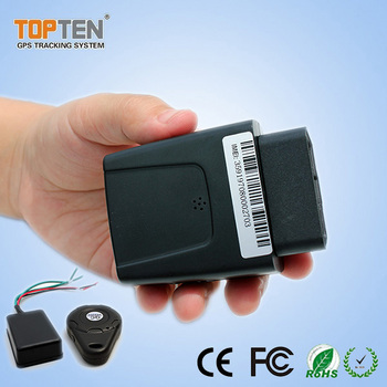 TK208 mini spy OBD2 connector car gps tracking device with microphone