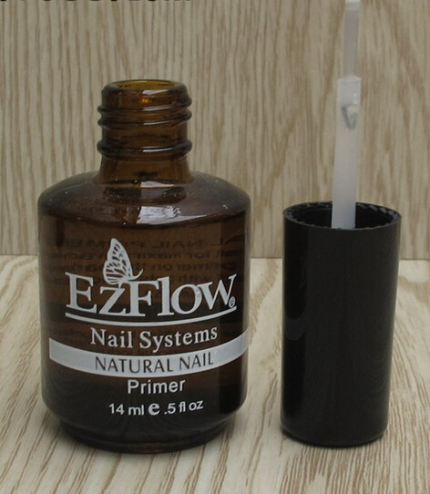 Wholesale-2Pc 14ML Ezflow Natural Nails Primer Nail Art Tool Products  Acrylic Base Coat For UV GEL & Acrylic Tips