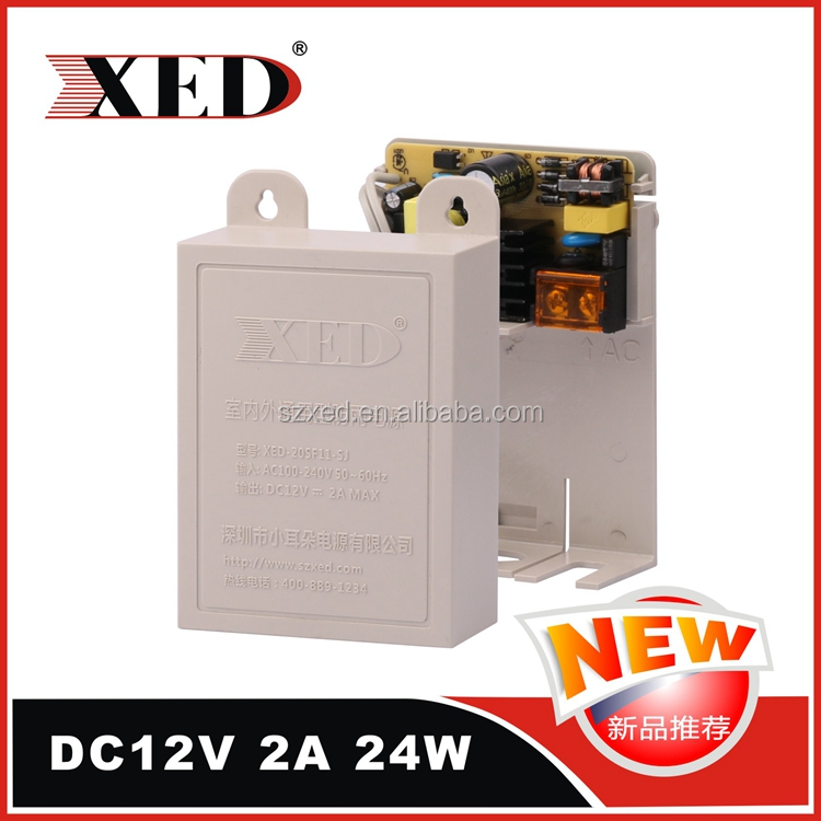 AC to DC outdoor DC12V 2a 24w AC100-240V single output power adapter 24w switching power adapter dc output power adapter