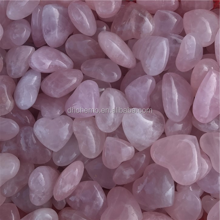 Wholesale Natural Big Rose Quartz Crystal Heart Shaped Stones