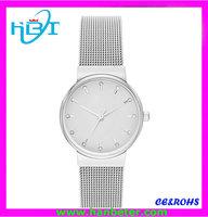 Elegant silver jewelry women watches with diamond