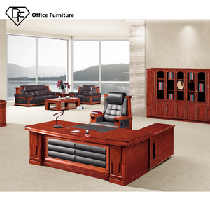 Walnut color durable high quality office furniture big wooden office table for sale