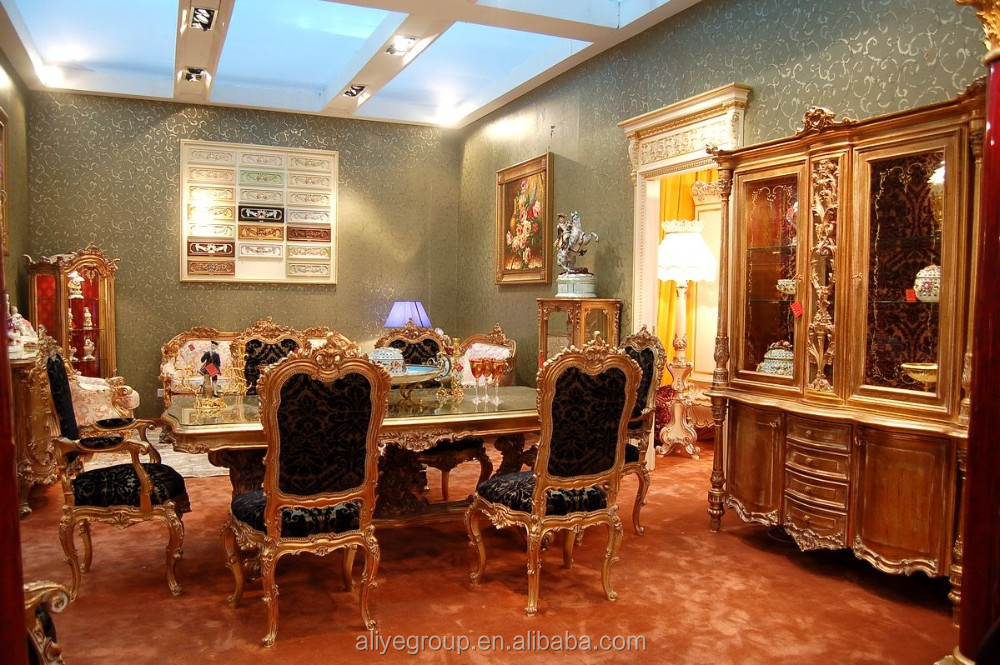 D2007 1 Versailles Palace Furniture Replica, Gilt Bronze Mounted Formal Dining  Room