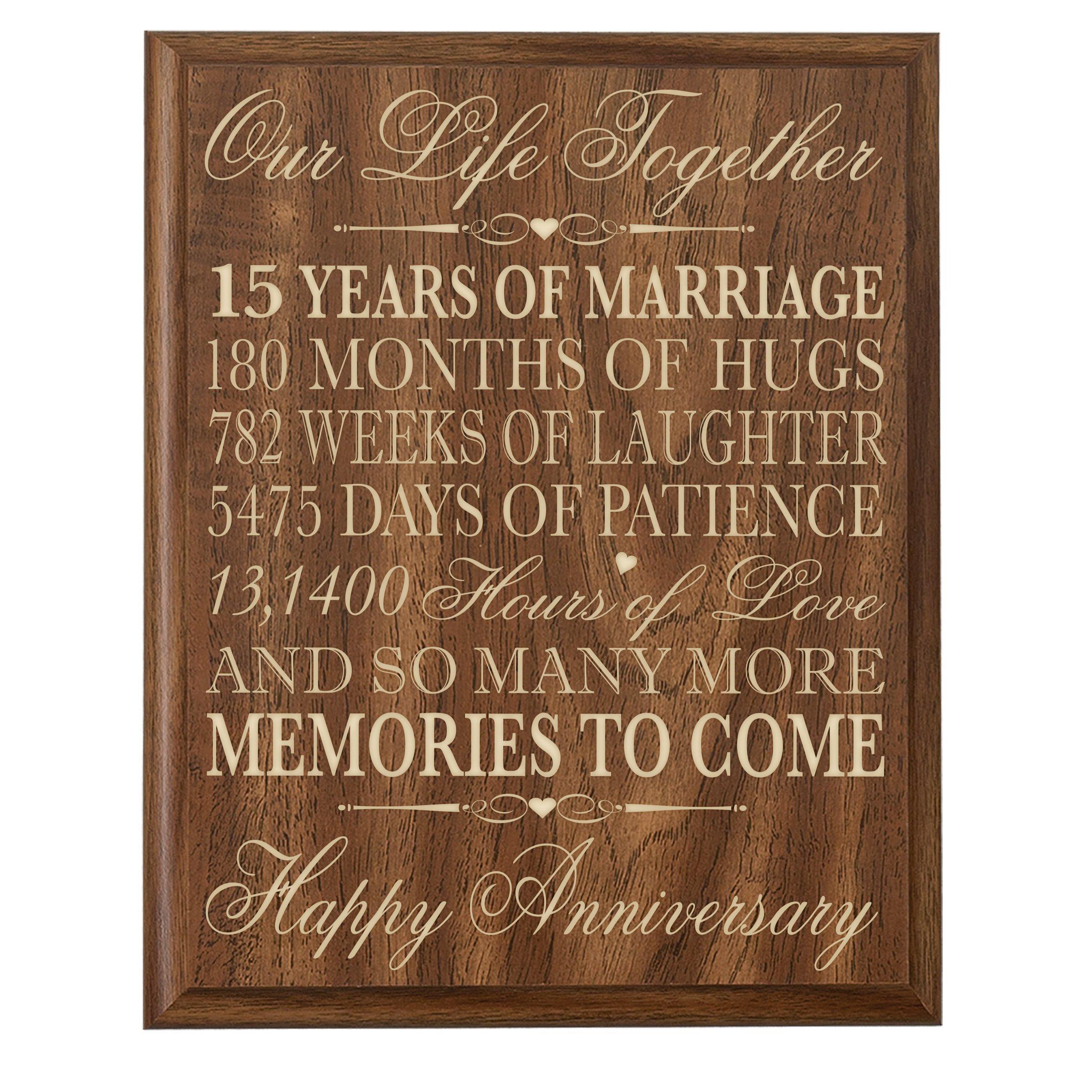 15 Year Wedding Anniversary Sayings: Buy 15th Wedding Anniversary Gift For Couple,15th