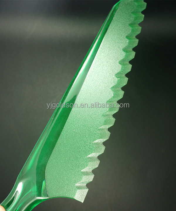 top quality ps plastic 100 cake knife with multi colors