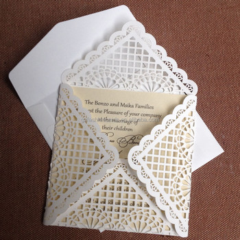Newest Design Laser Cut Blank Wedding Invitation Card And Envelopes Product On Alibaba