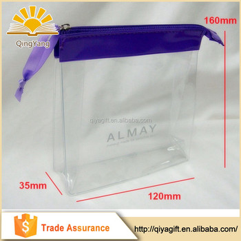 Whole Customized Transpa Cosmetic Pvc Clear Makeup Bag With Zipper Plastic Bags Beautiful