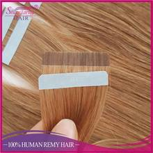 Remy brazilian tape hair double drawn colored light brown high quality bresilienne hair invisible tape in hair extensions