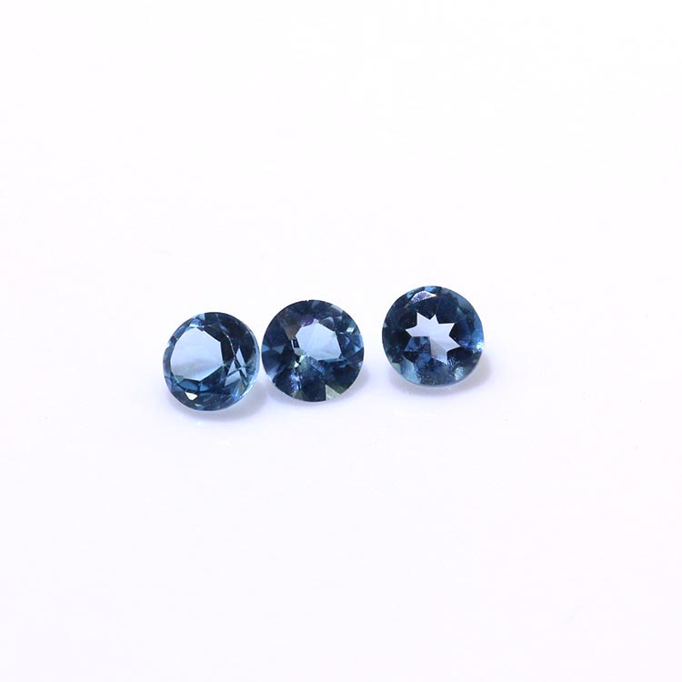 natural topaz gems stones 3.0mm blue topaz loose gemstone prices