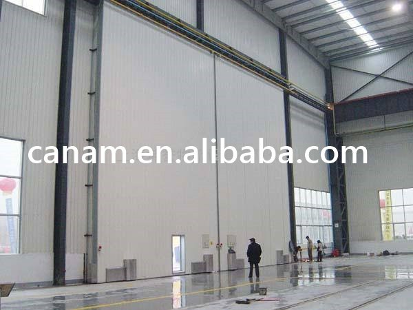 Industrial automatic manual sliding door for workshop