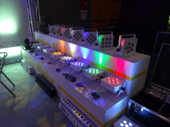 White Back Stage Lighting 18watts 9pcs Small Wireless Led Light ...