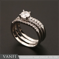 High quality and reasonable price fashion artificial ladies daily wear rings jewelry 1