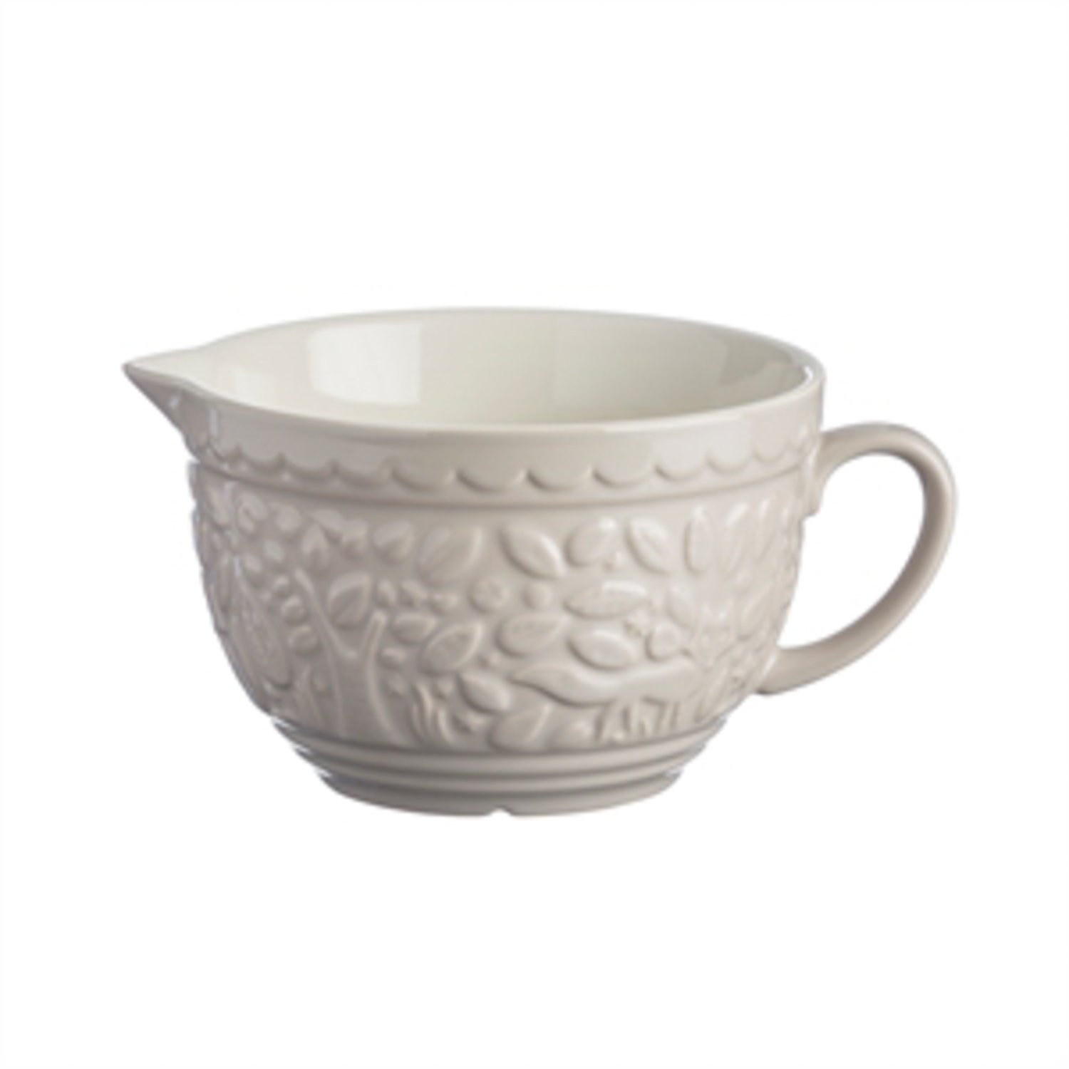 Mason Cash In The Forest Stoneware Batter Bowl, 9-3/4-Inches by 7-1/2-Inches by 5-Inches, Cream