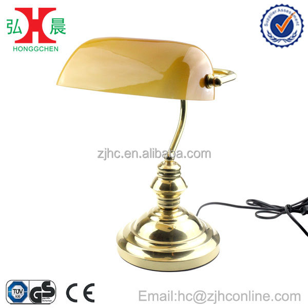 GS/CE/ROHS Solid Brass Banker Lamp Table Lamp