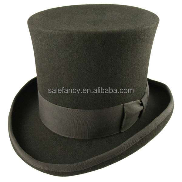 Cheap Green St. Patrick's Day fedora hat felt top hat QHAT-2003