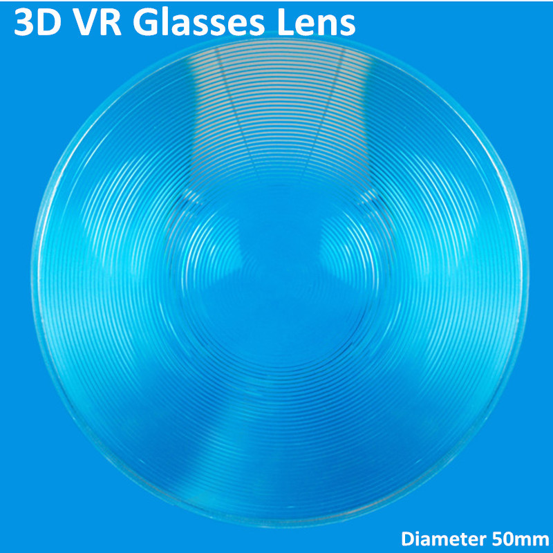 High Definition Diameter 50mm 3D VR Glasses Fresnel Lens Small Round Clear Plastic Acrylic Lens