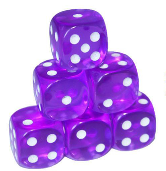 15mm green dice purple dice