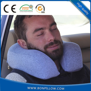 2018 Personalized visco-elastic polyurethane u shape memory foam travel pillow