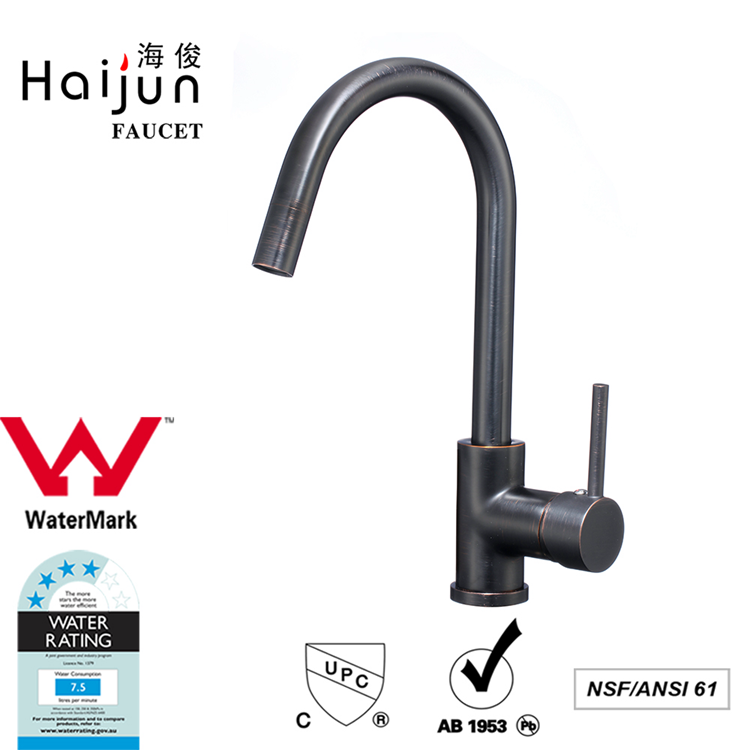Haijun Wholesale Single Handle Pull Down Spring Horse Ceramic Cartridge Kitchen Mixer Tap Faucet