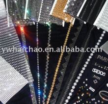 drilled diamond stripping strip rhinestones diamond rhinestone ribbon