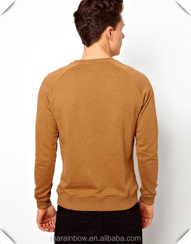 Customized Mens Plain Raglan Sleeve Sweatshirt 100% Cotton Blank ...